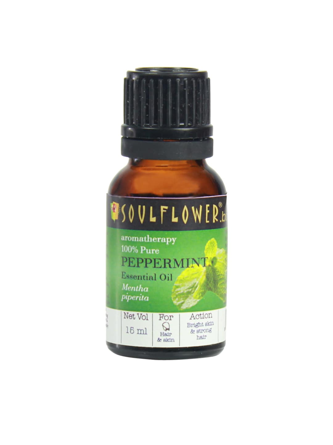 Soulflower Unisex Peppermint Essential Oil image