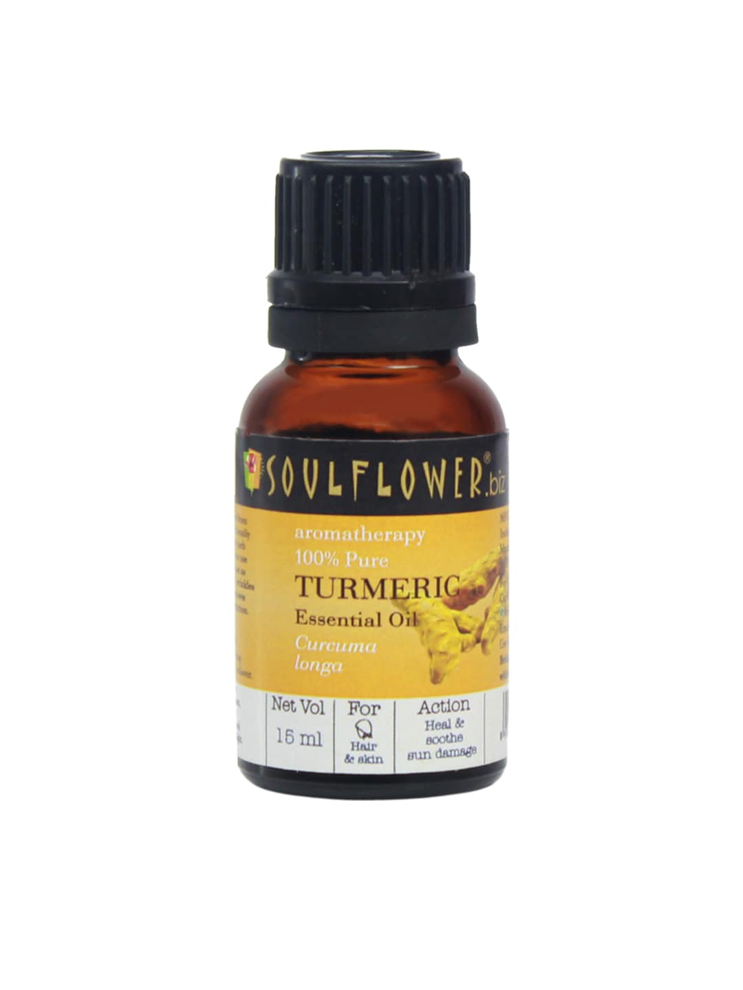 Soulflower Unisex 15 ML Turmeric Essential Oil image