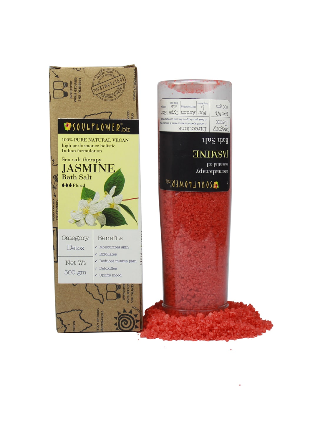 Soulflower Unisex Pack of 2 Jasmine Bath Salt image