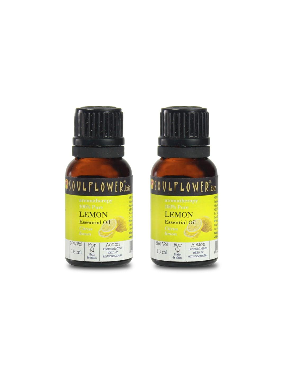 Soulflower Set of 2 Lemon Essential Oils 15 ml image