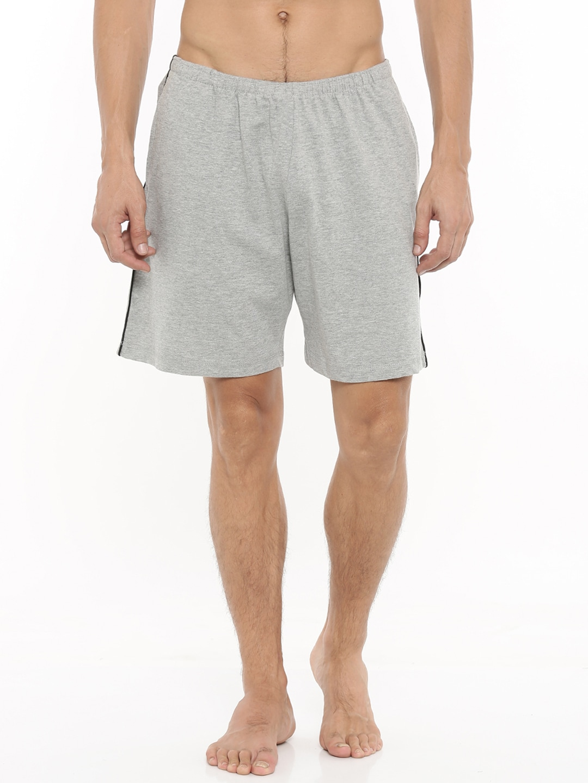 Gmcks Grey Lounge Shorts 7760 image