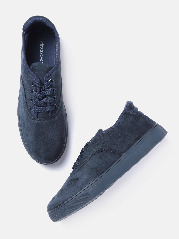 DressBerry Women Navy Sneakers image