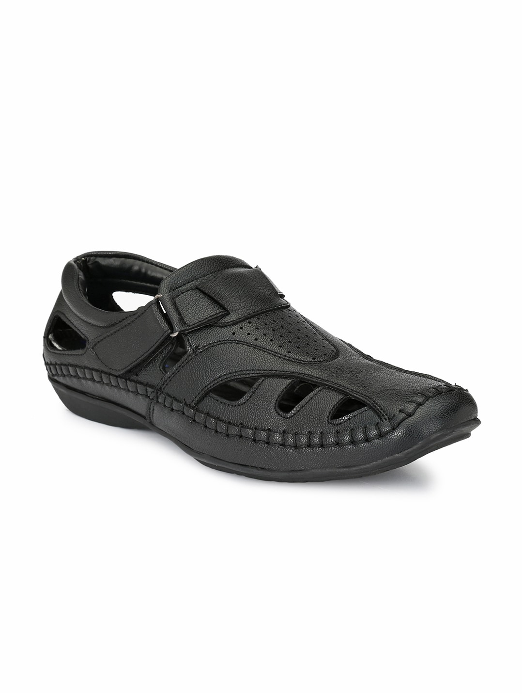 El Paso Men Black Closed Sandals