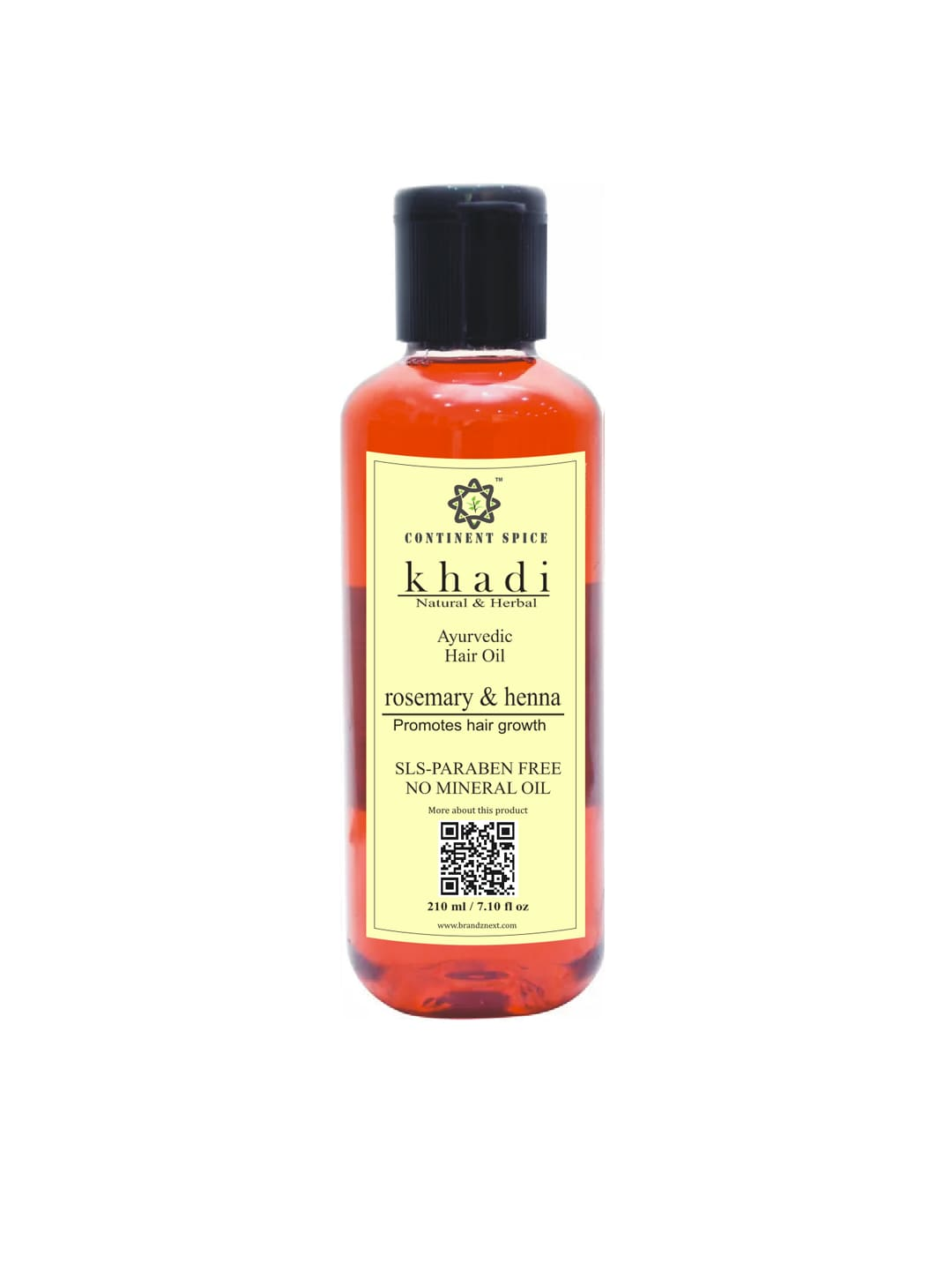Khadi Continent Spice Rosemary & Henna Ayurvedic Hair Growth Oil 210 ml image