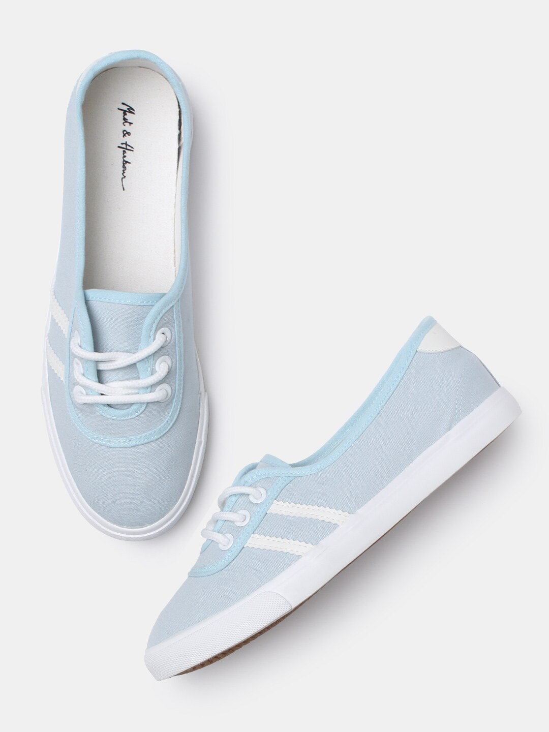 Mast & Harbour Women Blue Sneakers Price in India