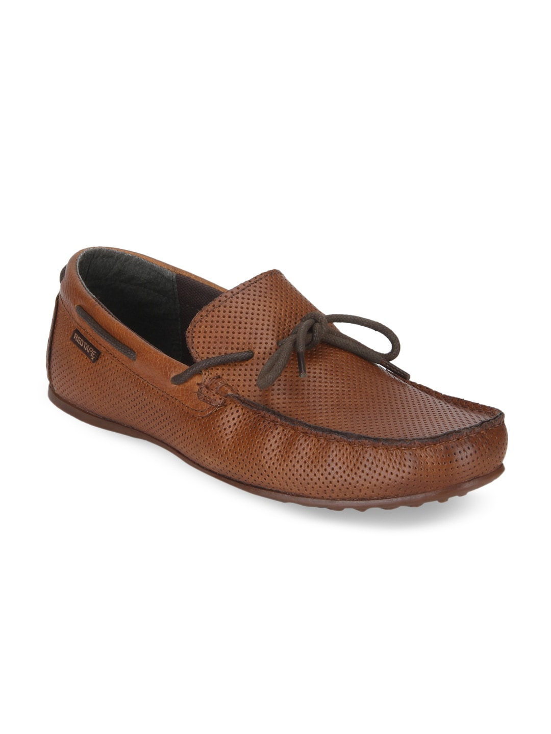 Buy Red Tape Men Tan Brown Leather Loafers Online at Best Price in India