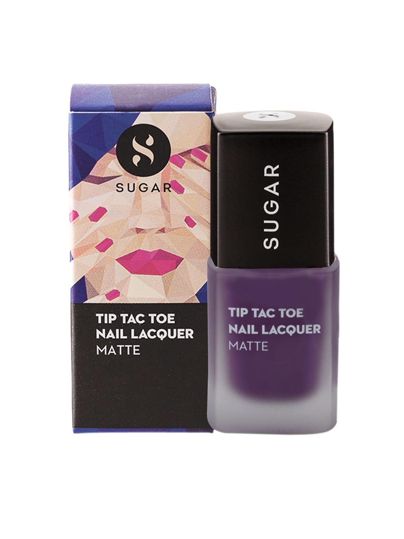 SUGAR Tip Tac Toe Matte Nail Lacquer - 001 Purple Patch image