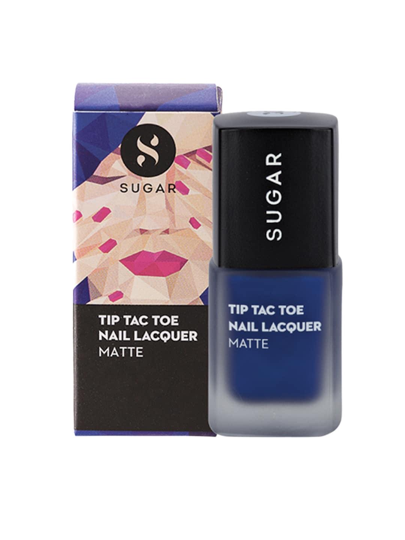 SUGAR Tip Tac Toe Matte Nail Lacquer - 013 Break On Blue image