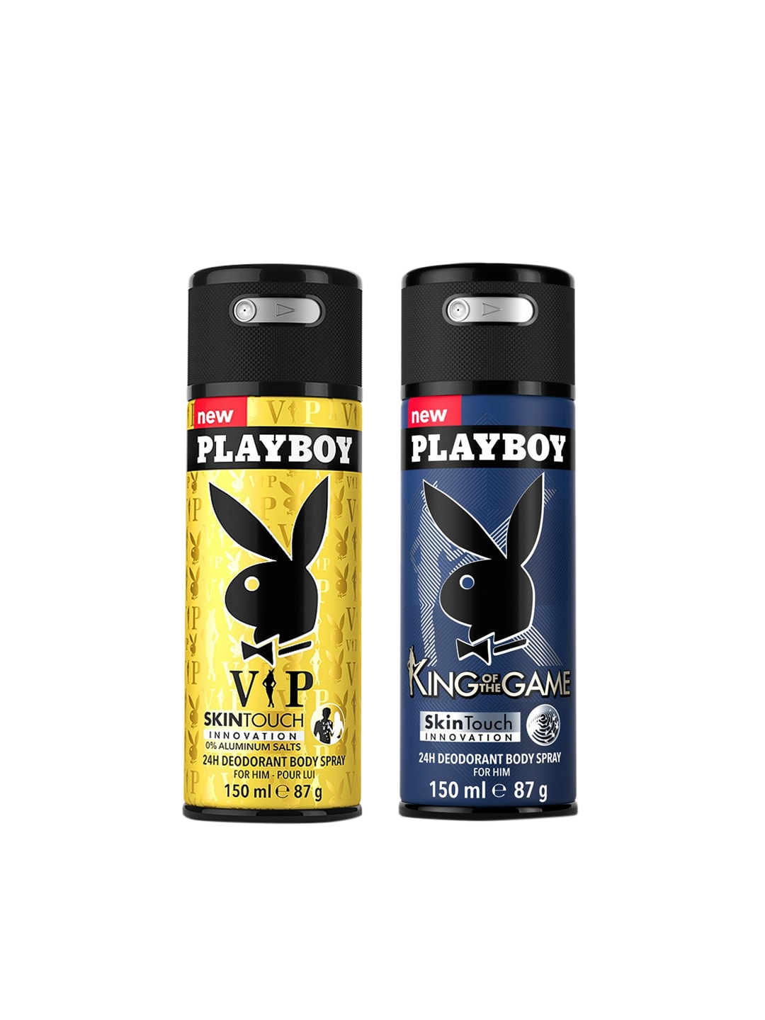 Playboy Men Pack of 2 SkinTouch 24H Deodorant Body Sprays image
