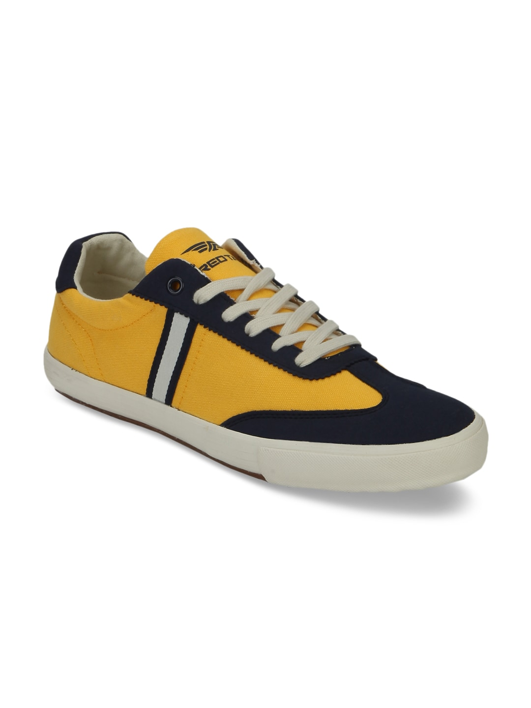 Red Tape Men Yellow & Navy Sneakers image
