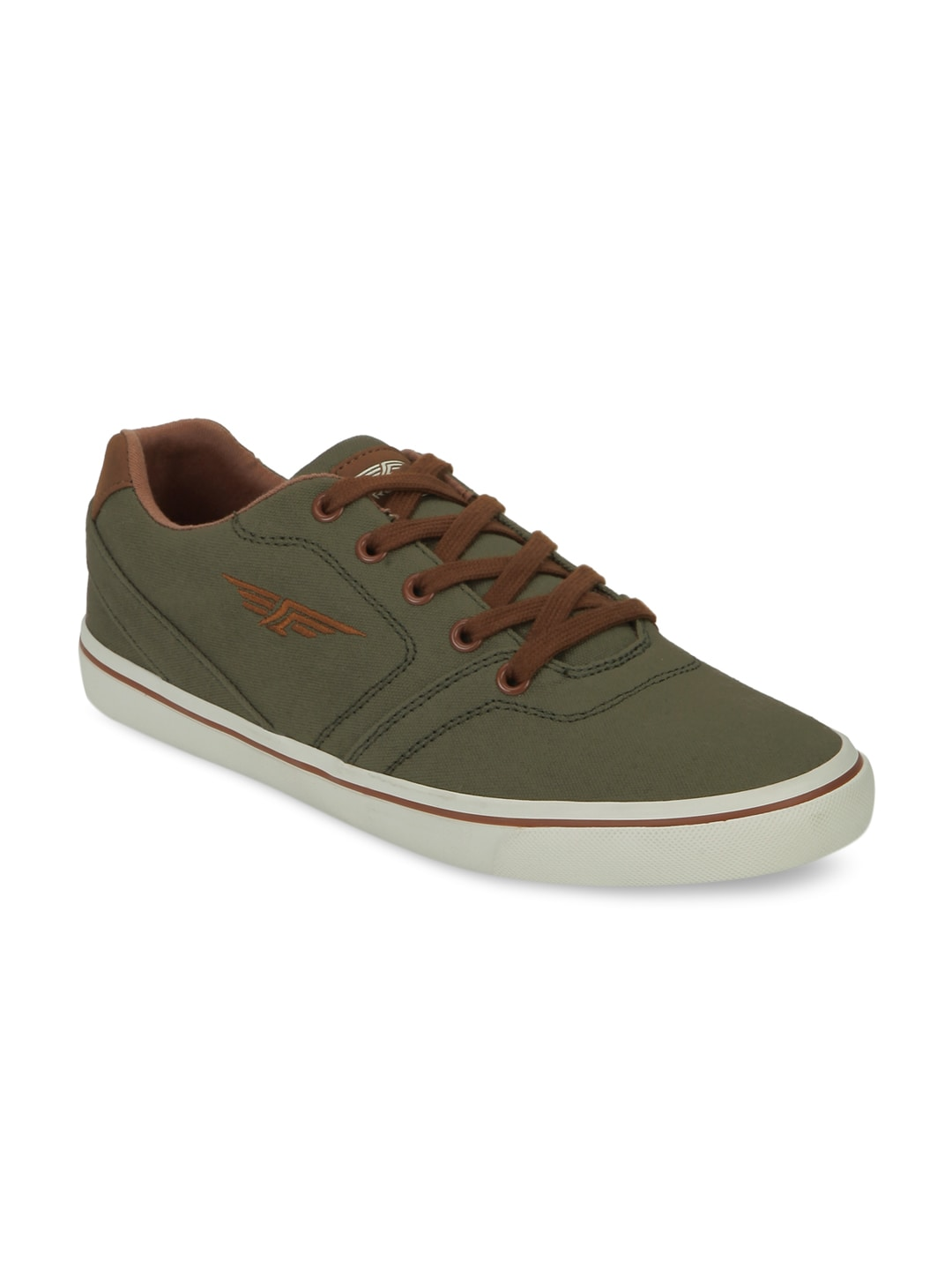 Red Tape Men Olive Green Sneakers image