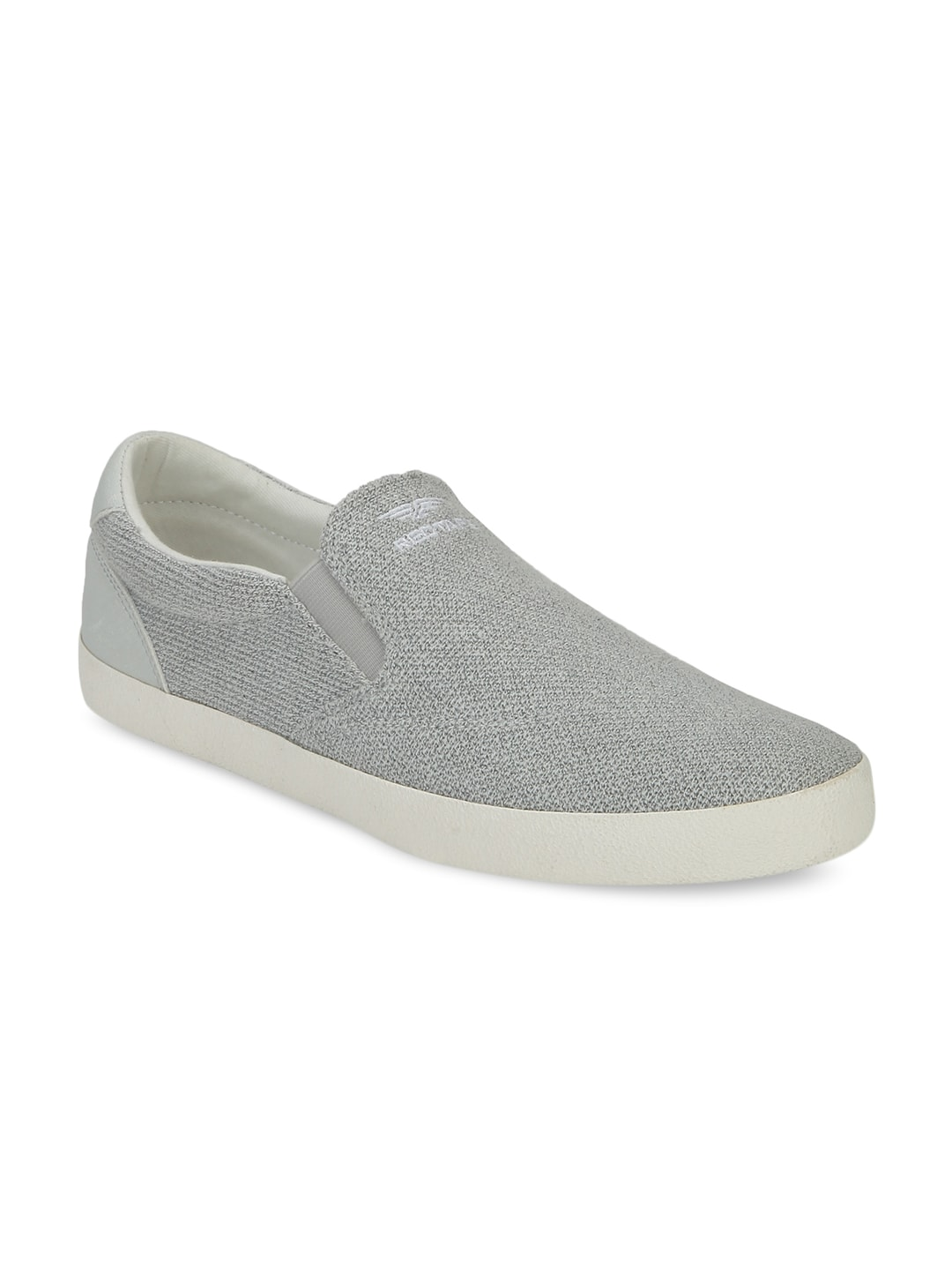 Red Tape Men Grey Slip-On Sneakers image
