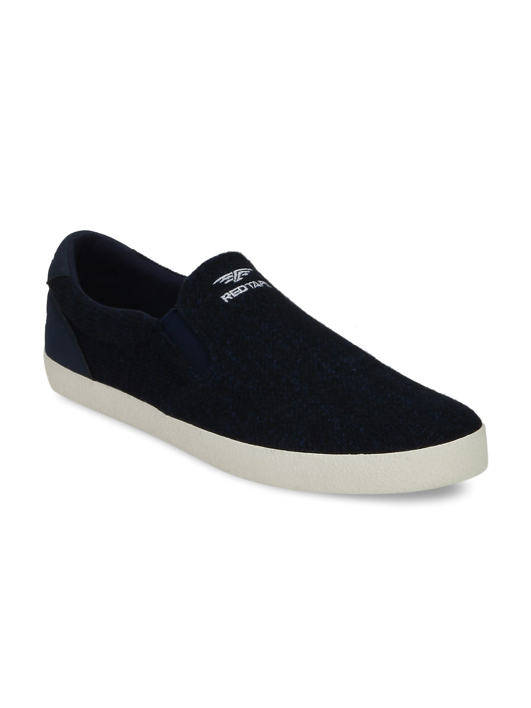 Red Tape Men Navy Slip-On Sneakers image
