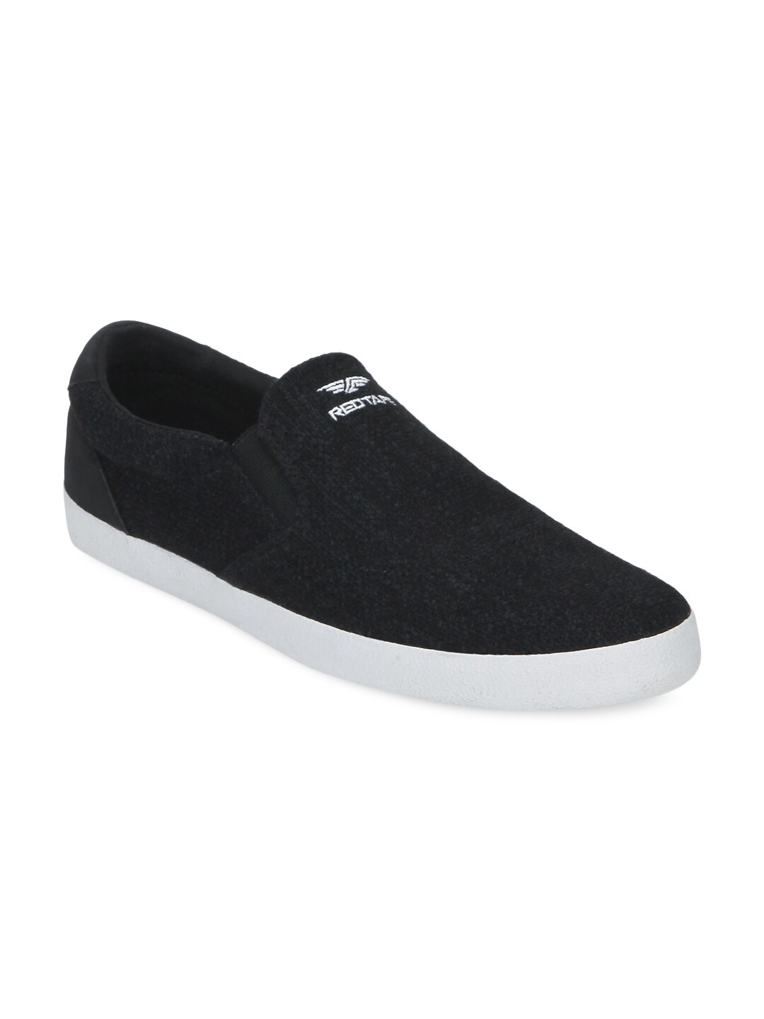 Red Tape Men Black Slip-On Sneakers image