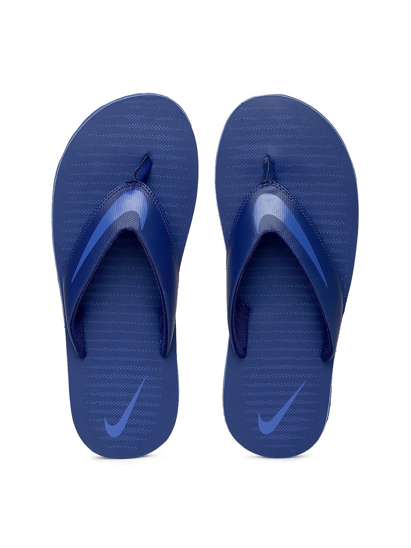 Nike Men Blue Solid CHROMA Thong Flip-Flops image
