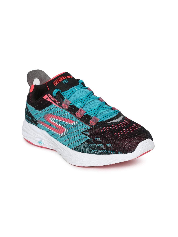 Skechers Women Blue GO RUN 5 Running Shoes image