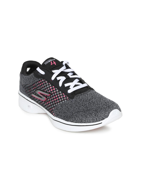 Skechers Women Grey GO WALK 4 EXCEED Walking Shoes image