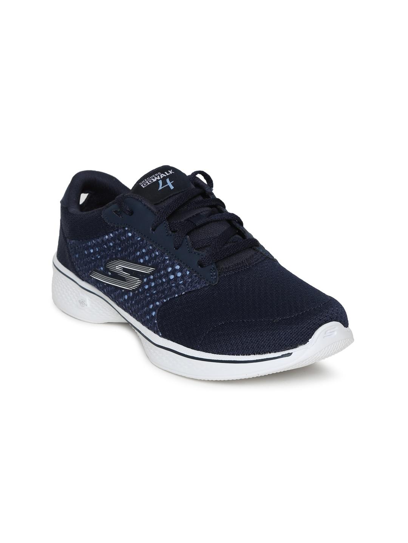 Skechers Women Navy Blue GO WALK 4 EXCEED Walking Shoes image