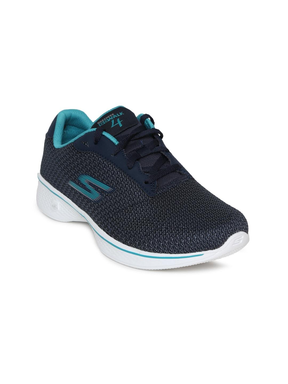 Skechers Women Navy Blue GO WALK 4 GLORIFY Walking Shoes image