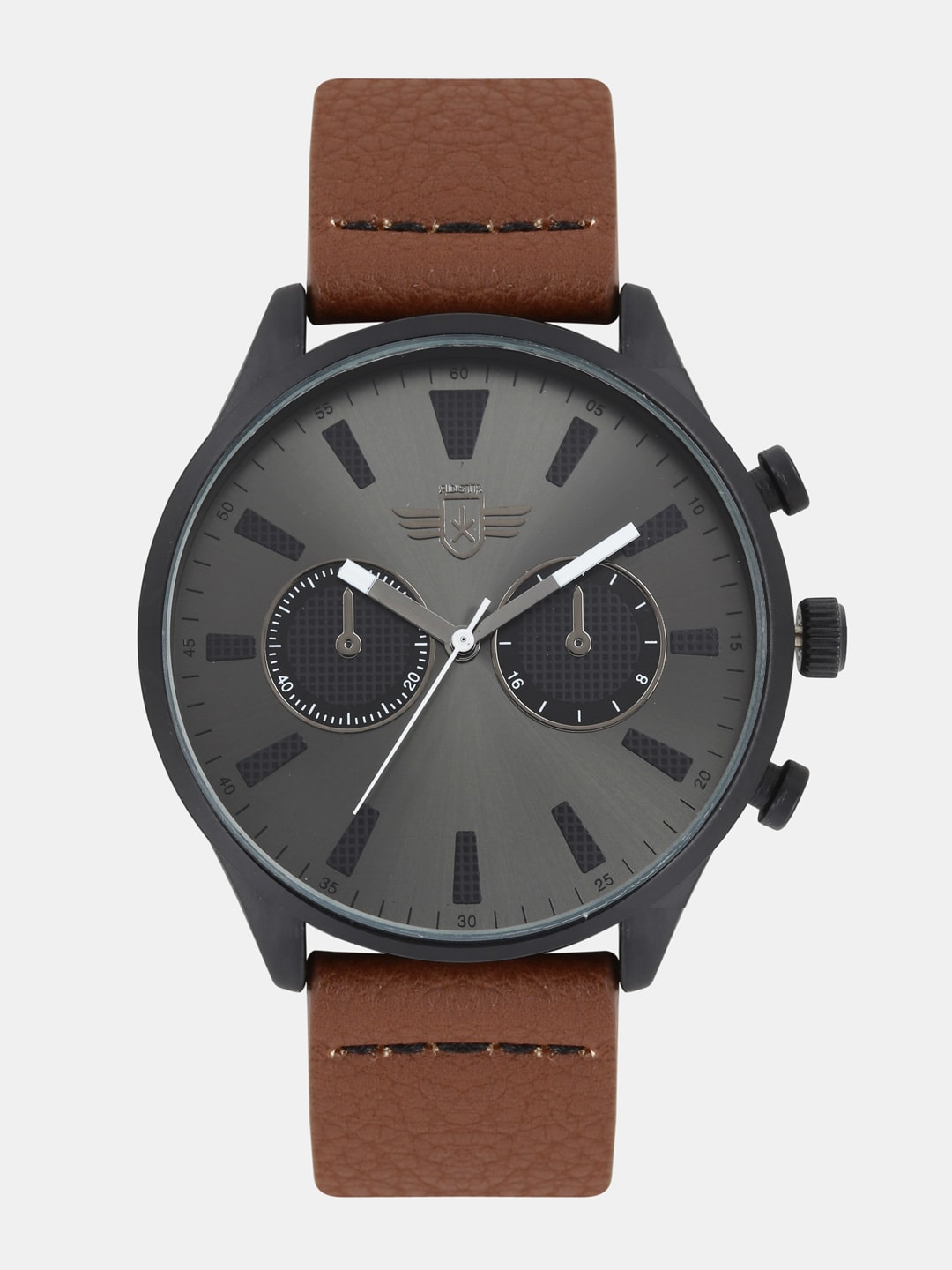 Roadster Gunmetal-Toned Unisex Analog Watch