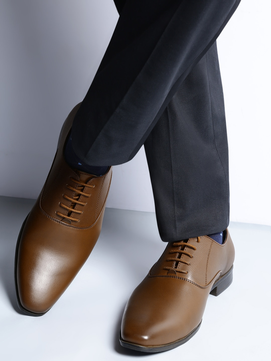 Buy INVICTUS Brown Formal Men's Shoes At Best Price