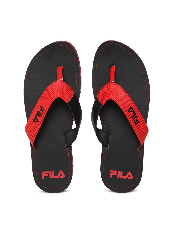 FILA Men Red & Black SELECT Flip-Flops image