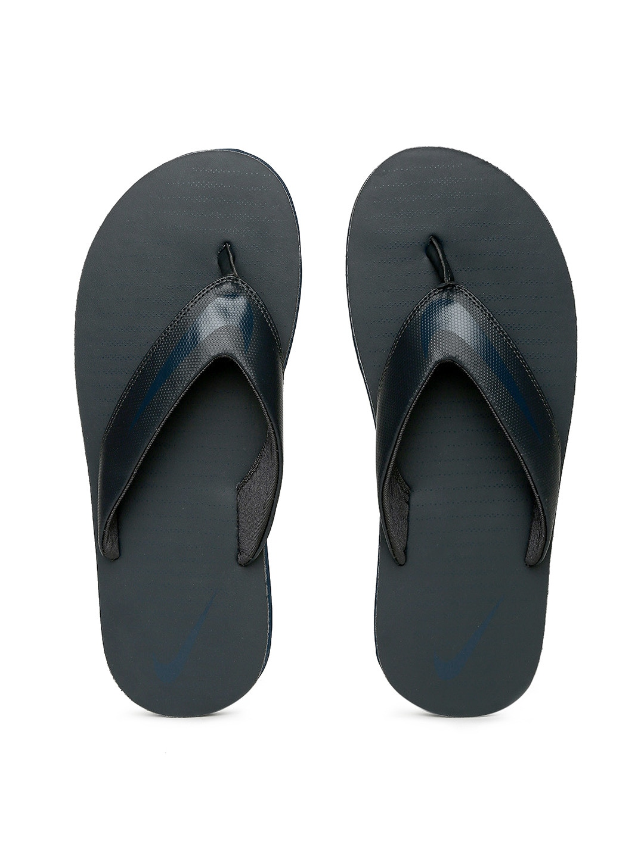 Nike Men Black Solid CHROMA Thong Flip-Flops image