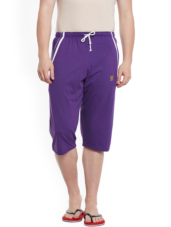 VIMAL Men Purple Lounge Shorts image