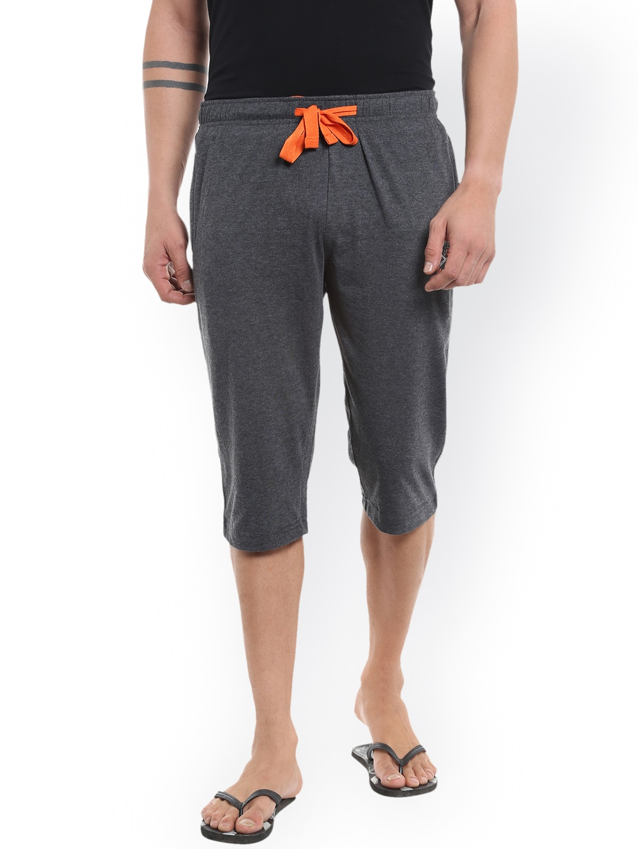 AVOQ Men Charcoal Grey Lounge Shorts image