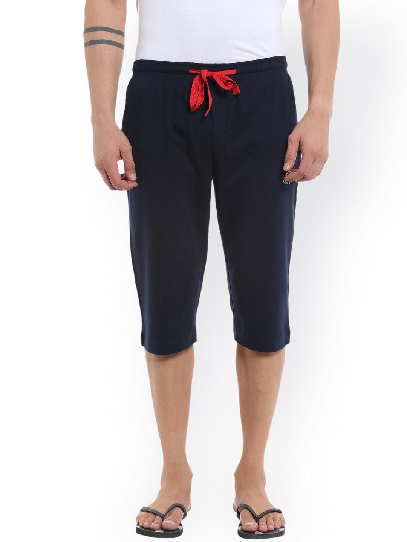AVOQ Men Navy Blue Lounge Shorts image