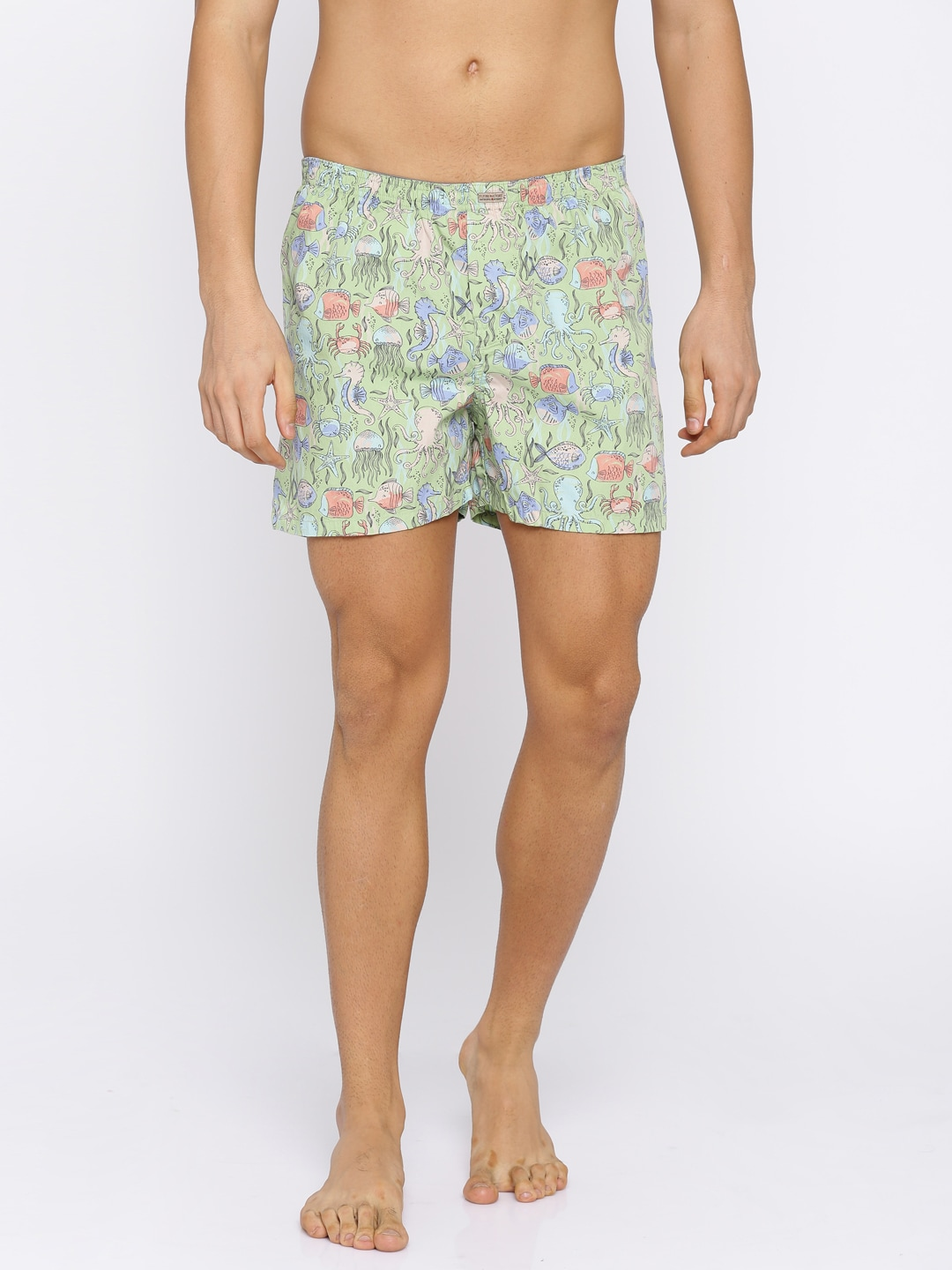 Flying Machine Green Printed Boxers FMAM8057 image