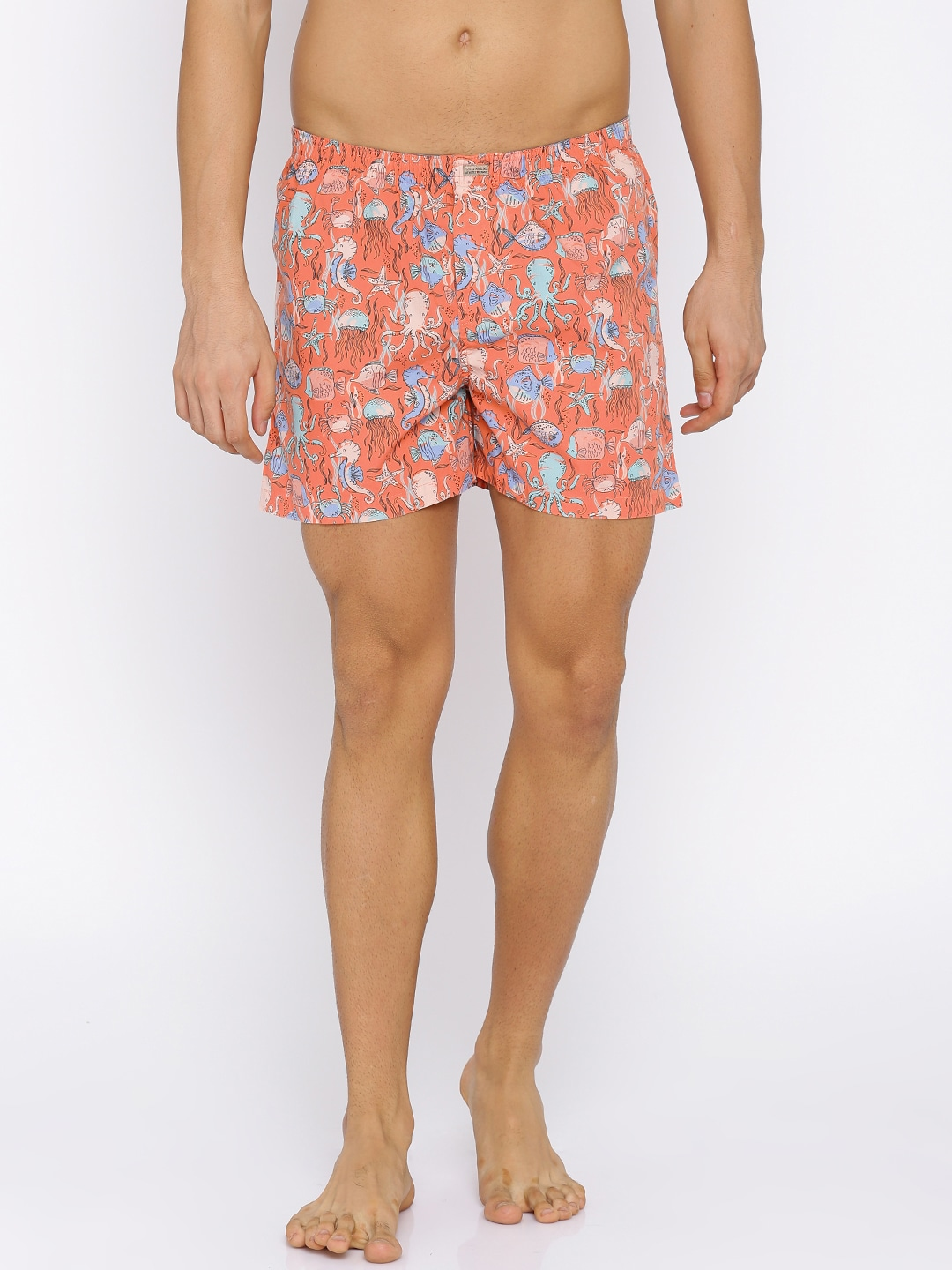 Flying Machine Coral Pink Printed Boxers FMAM8058 image