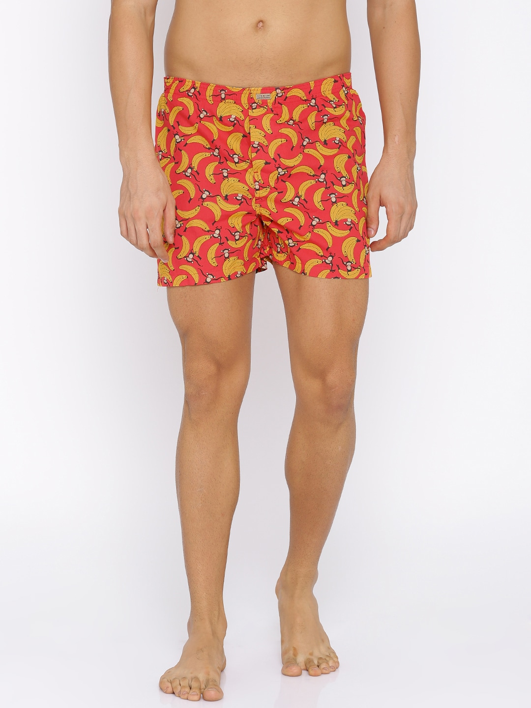 Flying Machine Red & Yellow Printed Boxers FMAM8059 image
