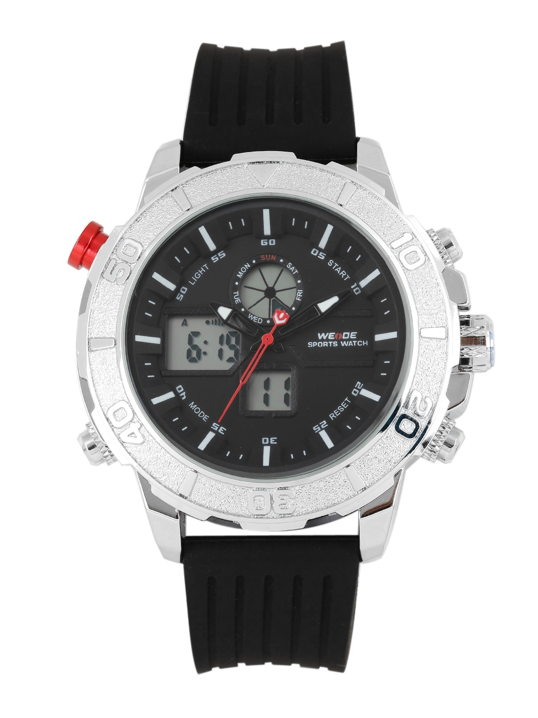 WEIDE Men Charcoal Grey Analogue and Digital Watch WH6108-3C image