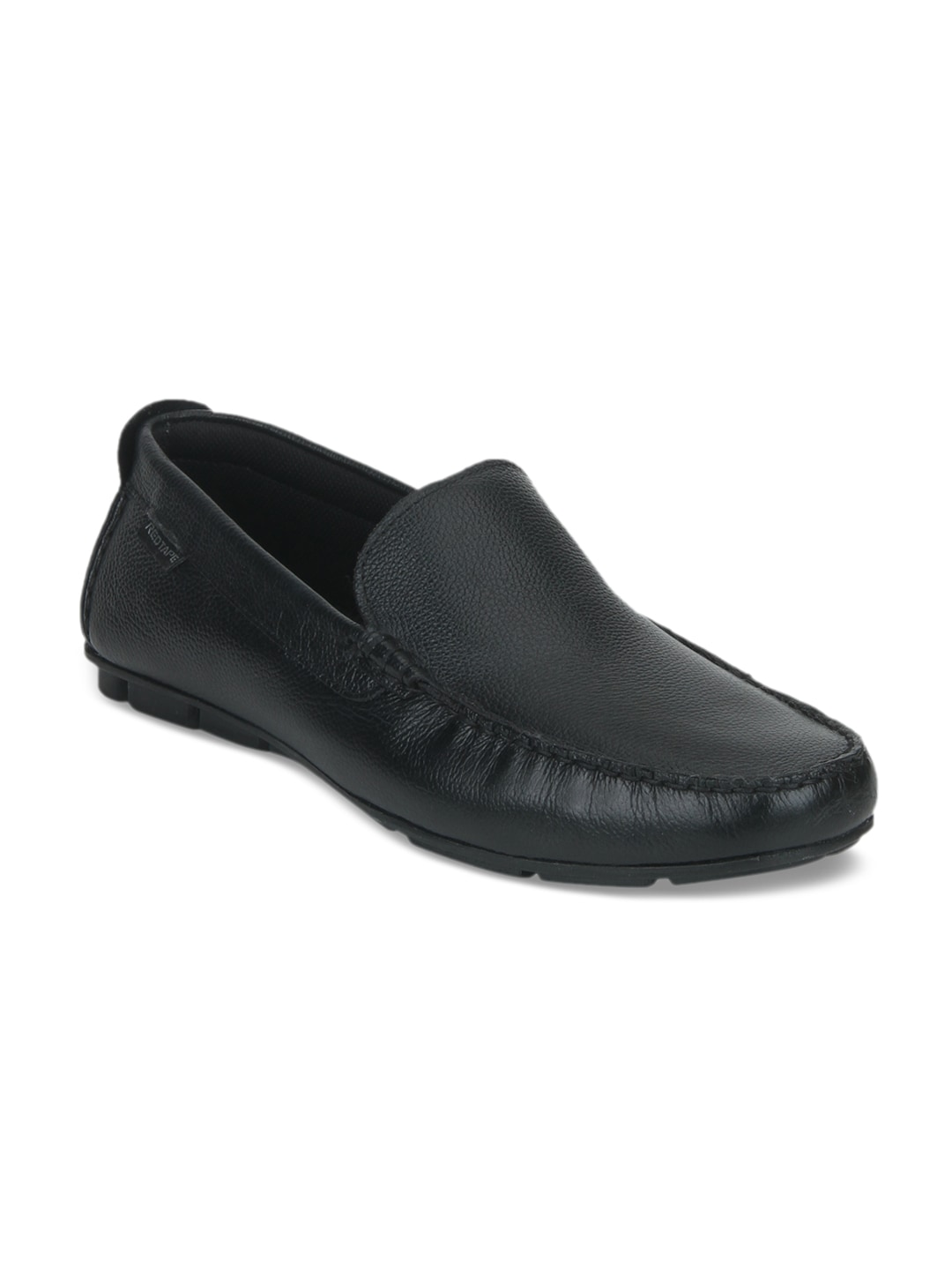 Get Red Tape Black Leather Men's Formal Slip-Ons Online At Best Price
