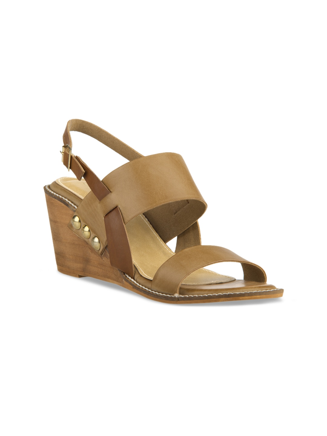 Signature Sole Women Brown Solid Sandals image