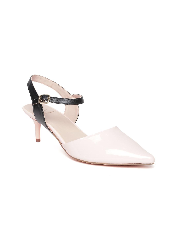 Carlton London Women Pink Solid Heels image