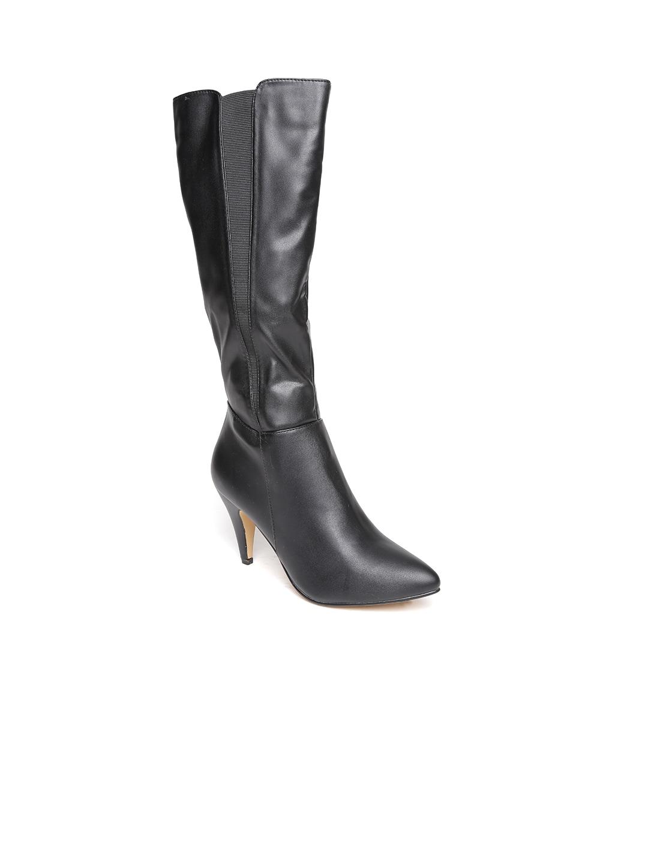 Carlton London Women Black Solid Heeled Boots image