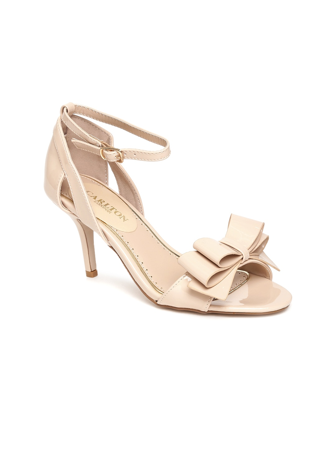 Carlton London Women Nude-Coloured Solid Sandals image