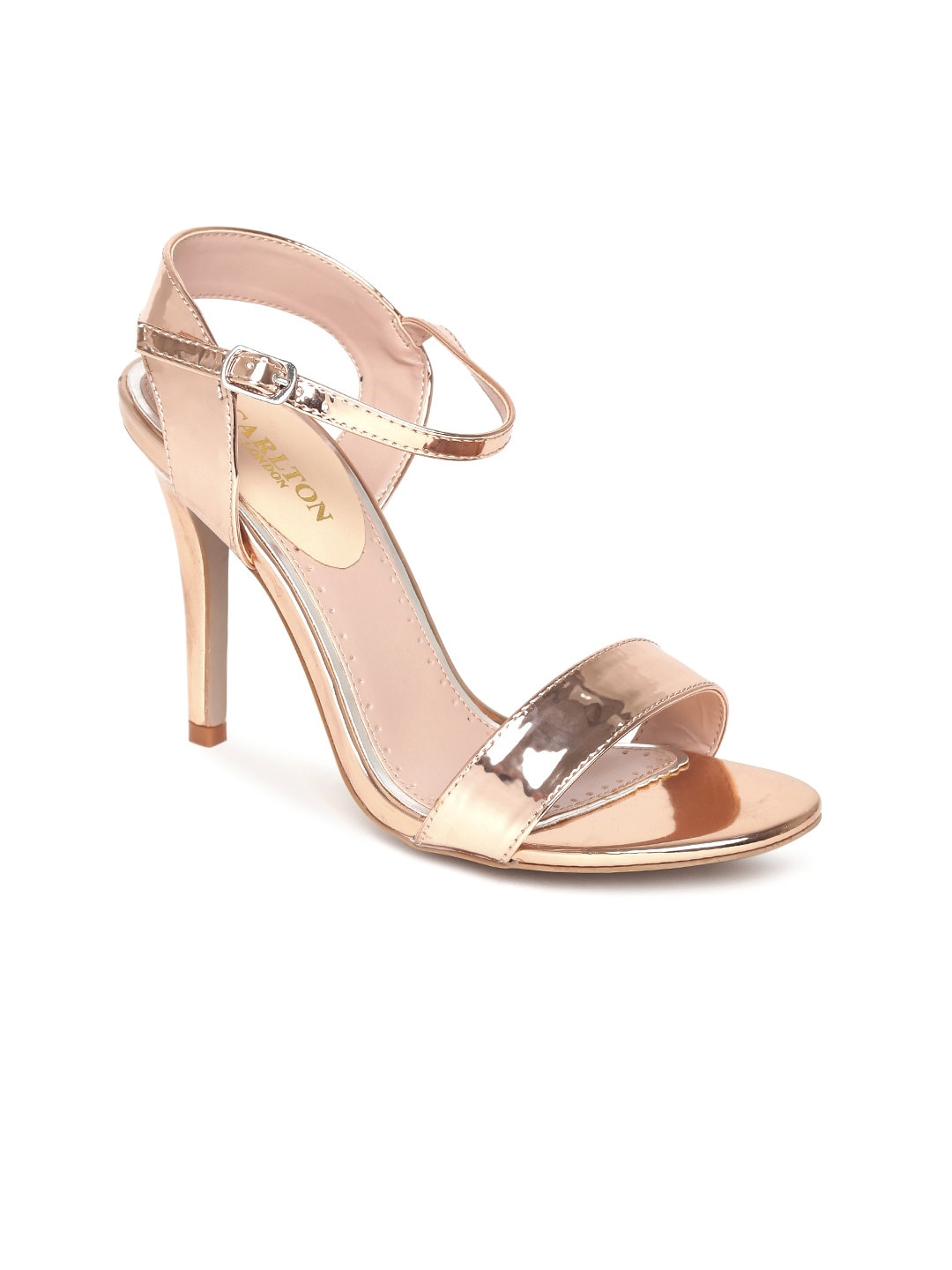 Carlton London Women Gold-Toned Solid Sandals image