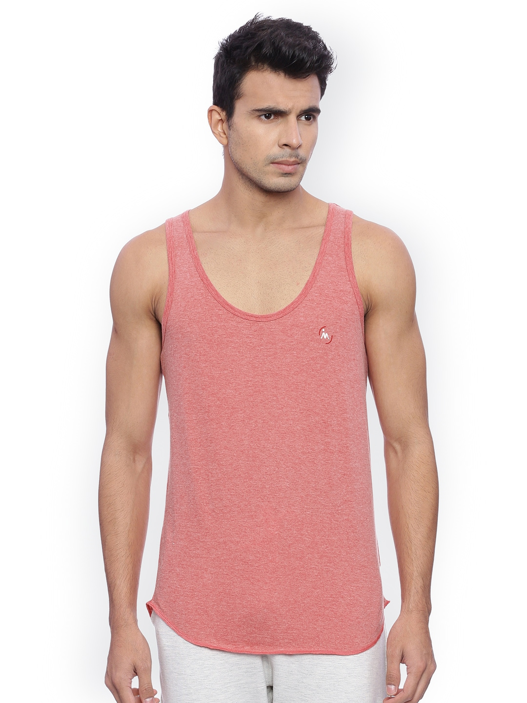 Masculino Latino Men Pink Solid T-shirt image