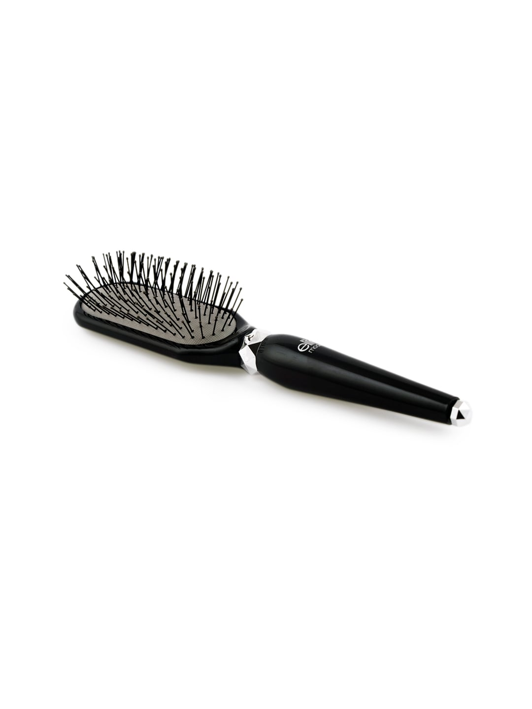 elite models Women Black Plastic Bristles Paddle Hair Brush image