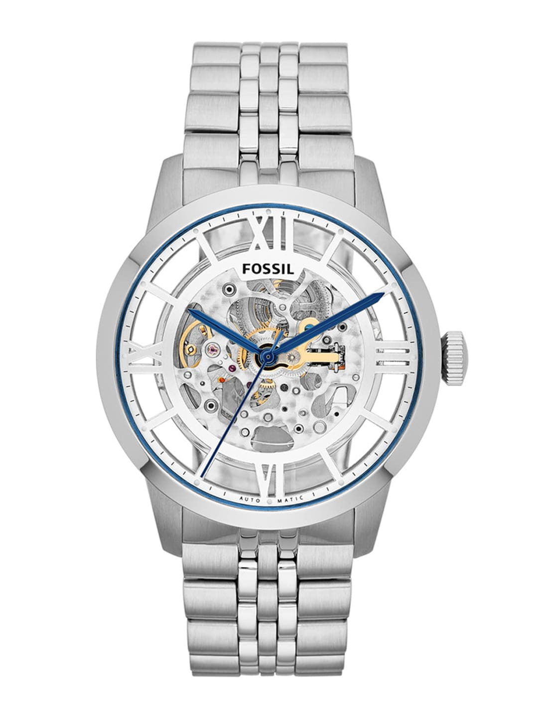 Fossil Men Silver-Toned & Silver-Toned Analogue Watch image