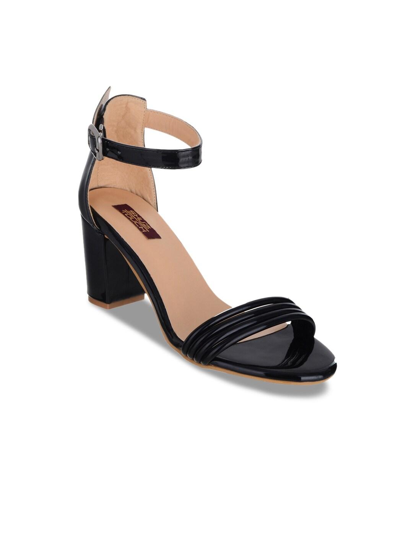 SHUZ TOUCH Women Black Solid Sandals image