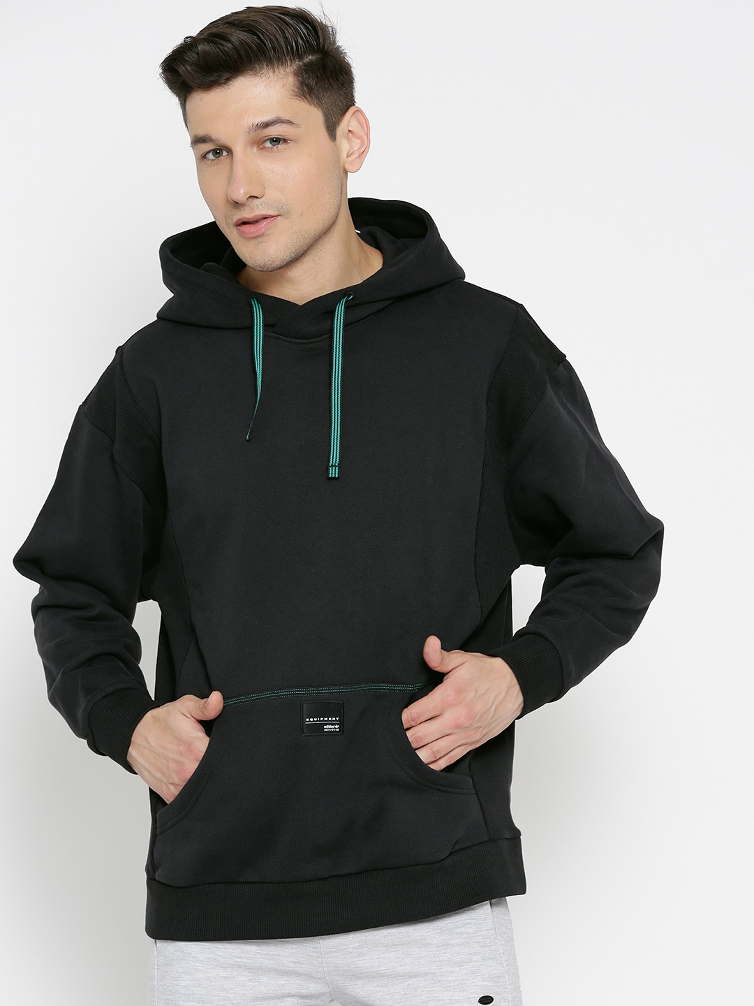 Buy Adidas EQT 18 Originals Black Hooded Sweatshirt At Best Price