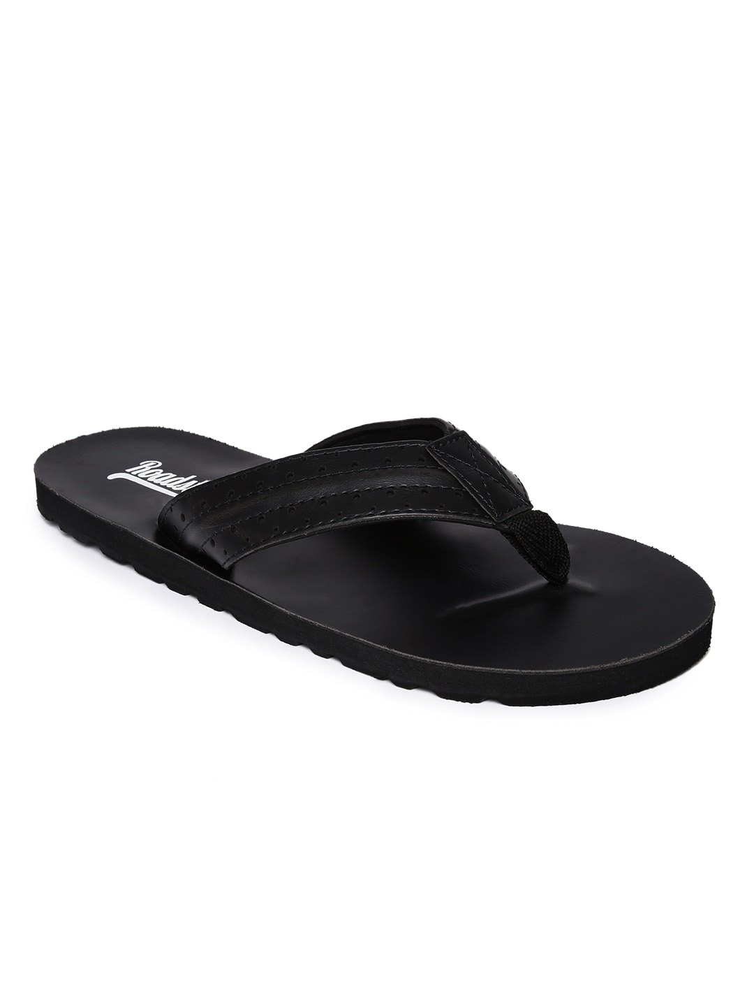 Roadster Men Black Solid Thong Flip-Flops image