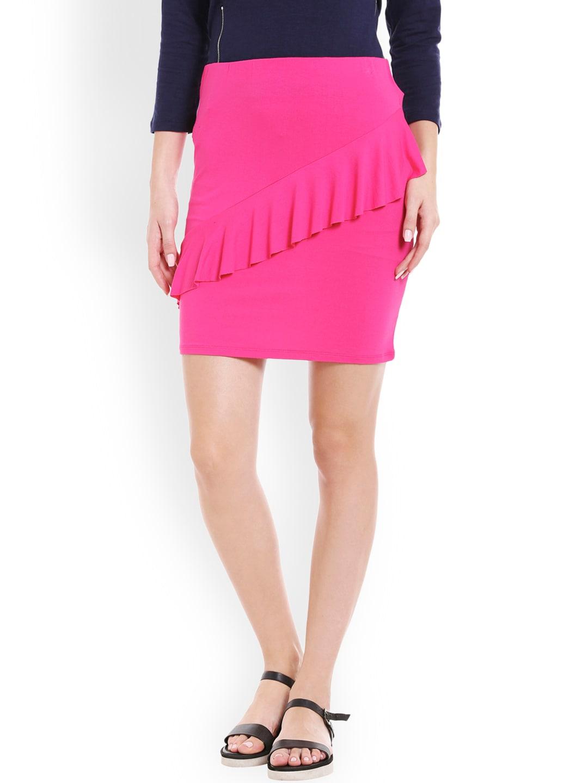 Globus Pink Solid Skirt image