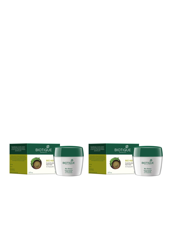Biotique Set of 2 Bio Henna Fresh Powder Hair Colour image