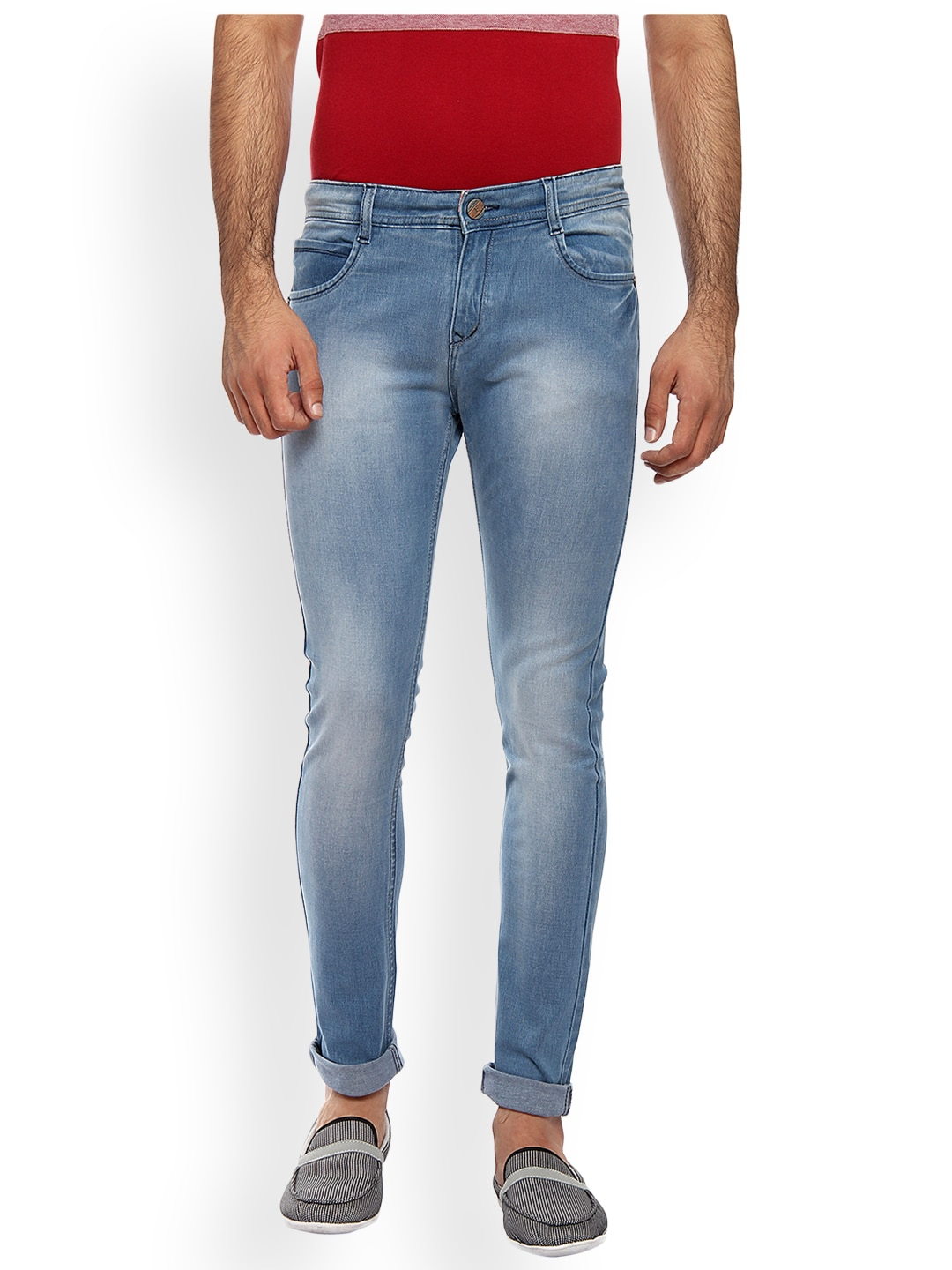FEVER Men Blue Slim Fit Mid-Rise Mildly Distressed Stretchable Jeans image