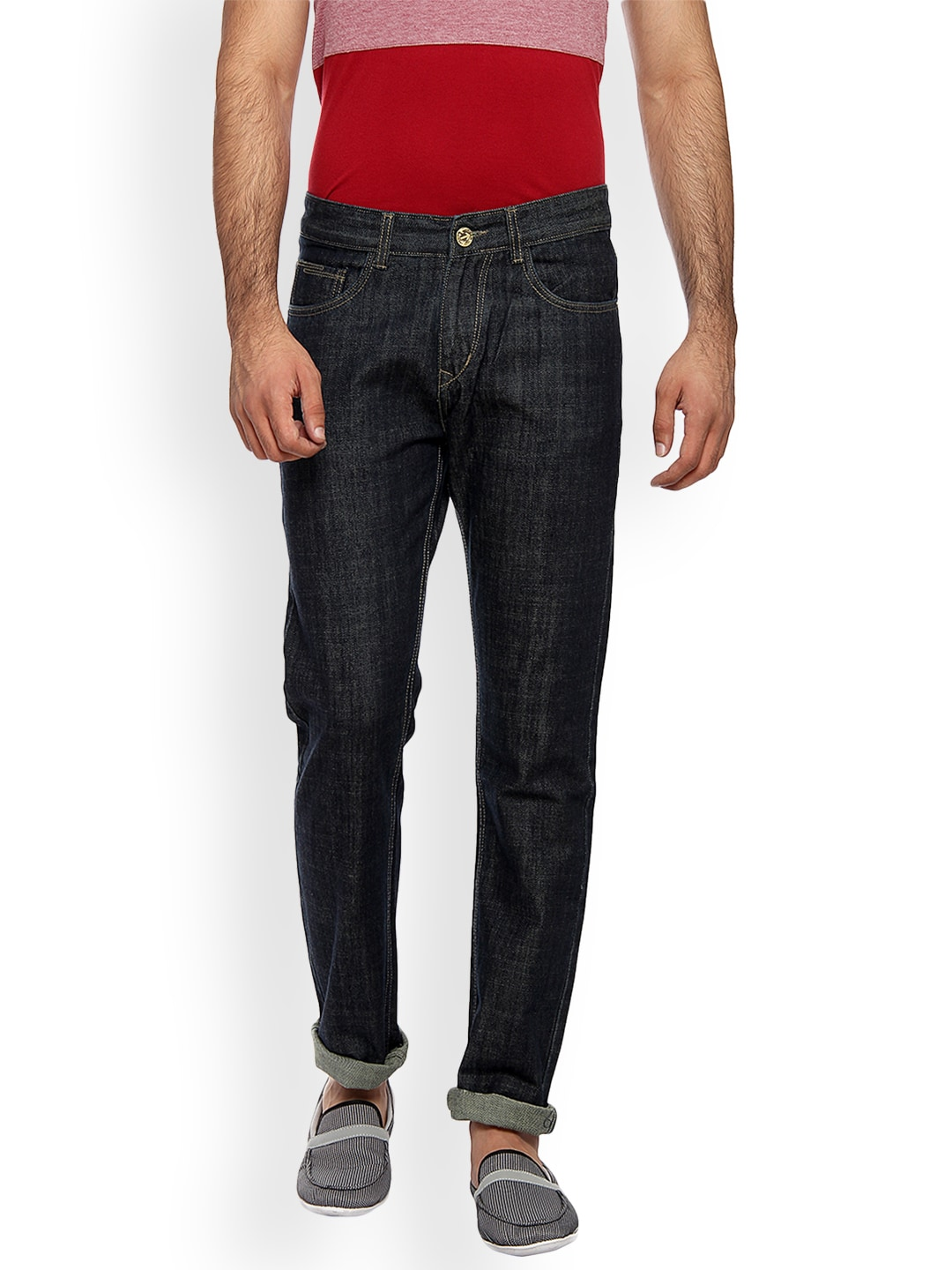 FEVER Men Blue Relaxed Fit Mid-Rise Clean Look Jeans image